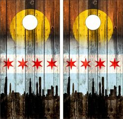 Chicago City Cornhole Wraps