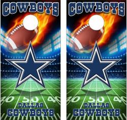 Dallas Cowboys Version 5 Cornhole Wraps