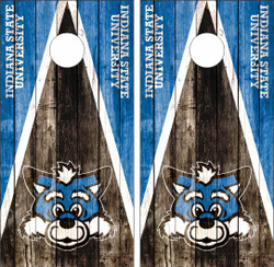 Indiana State Sycamores Version 2 Cornhole Wraps