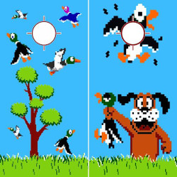 Nintendo Duck Hunt Cornhole Wraps
