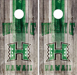 Hawaii Warriors Version 2 Cornhole Wraps