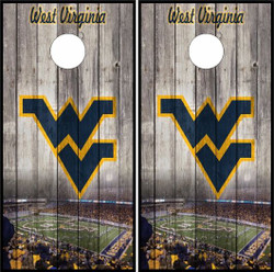 West Virginia Mountaineers Version 2 Cornhole Wraps