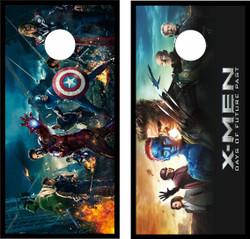 X-Men and Avengers Cornhole Wraps