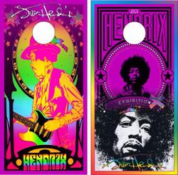 Jimi Hendrix Cornhole Wraps