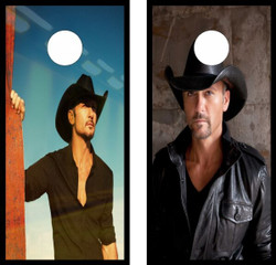 Tim McGraw Cornhole Wraps
