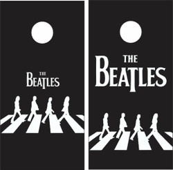 The Beatles Cornhole Wraps