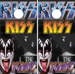 Kiss Version 2 Cornhole Wraps
