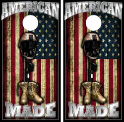 American Made Cornhole Wraps