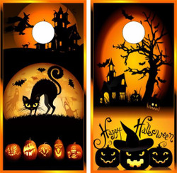 Halloween Cornhole Wraps