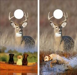 Hunting Dogs Cornhole Wraps