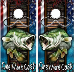 One More Cast Cornhole Wraps