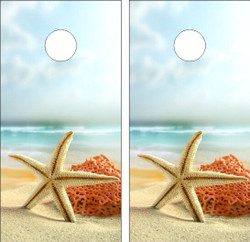 Starfish Cornhole Wraps
