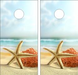 Starfish Cornhole Wraps