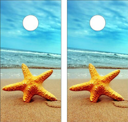 Starfish Version 2 Cornhole Wraps