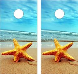 Starfish Version 2 Cornhole Wraps