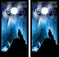 Howling Wolf Cornhole Wraps