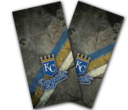 Kansas City Royals 3 Stripes Cornhole Wraps