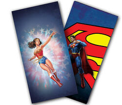 Wonder Woman and Superman Cornhole Wraps