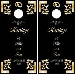 Wedding Cornhole Wraps #2