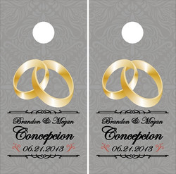 Wedding Rings Cornhole Wraps