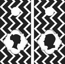Wedding Chevron Cornhole Wraps