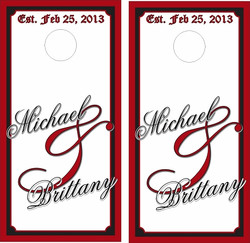 White Wedding Cornhole Wraps