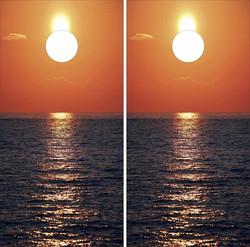 Beach Sunset Cornhole Wraps