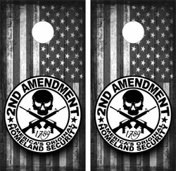 2nd Amendment Cornhole Wraps