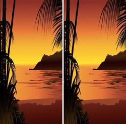 Sunset Cornhole Wraps
