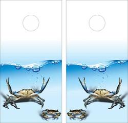 Ocean Crabs Cornhole Wraps