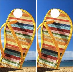 Flip-Flop Cornhole Wraps