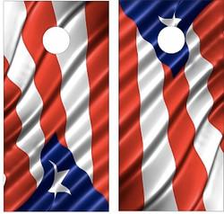 Puerto Rico Flag Cornhole Wraps