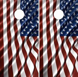 American Flag Cornhole Wraps