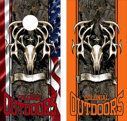 Tribal Buck Head Cornhole Wraps