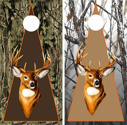 Triangle Deer Cornhole Wraps