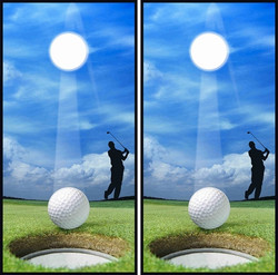 Golf Cornhole Wraps