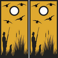 Duck Hunter Cornhole Wraps