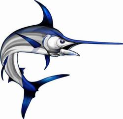 Swordfish Cornhole Decals