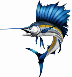 Sailfish Cornhole Decals
