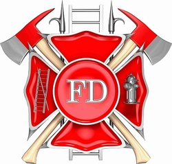 Fireman Cornhole Decals