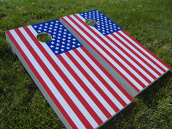 American Flag Cornhole Set with Bags
