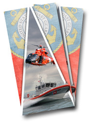 Coast Guard Cornhole Wraps