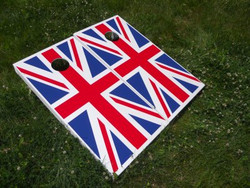 British Flag Cornhole Set with Bags