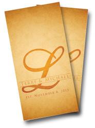 Wedding Rustic Letter Cornhole Wraps