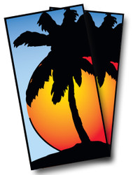 Palm Tree Cornhole Wraps