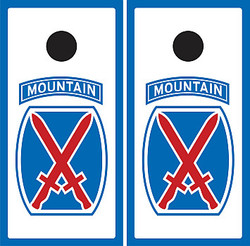 10th Mountain Division Cornhole Wraps