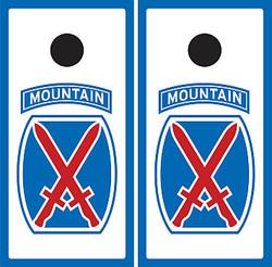10th Mountain Division Cornhole Wraps
