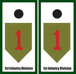 1st Infantry Division Cornhole Wraps