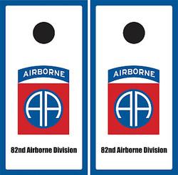 82nd Airborne Division Cornhole Wraps