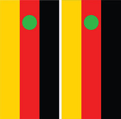 German Flag Cornhole Wraps